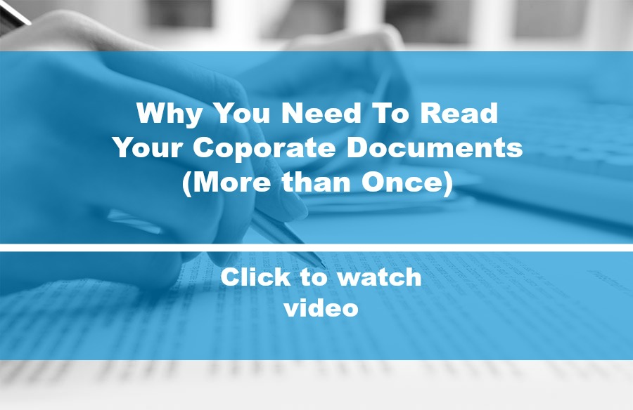 Why You Must Read Your Corporate Documents